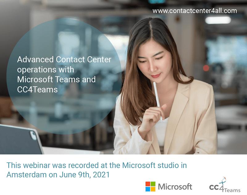 Microsoft Teams and CC4Teams webinar
